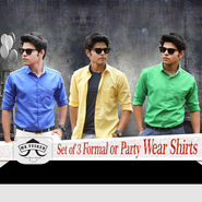 Set of 3 Formal or Party Wear Shirts