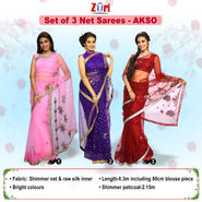 Set of 3 Net Sarees (3N1)