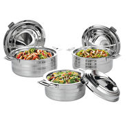 3 Pcs Stainless Steel Casserole Set