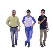 Set of 3 Stretchable Corduroy Denim for Men (AMT9)