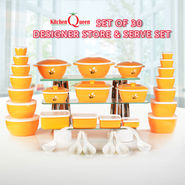 Set of 30 Designer Store & Serve Set