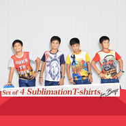 Set of 4 Sublimation T-shirts for Boys