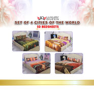 Set Of 4 Cities Of The World 5D Bedsheets (4DBS2)