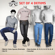 Mr. Tusker Set of 4 Stylish Jeans