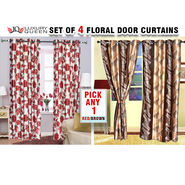 Set of 4 Floral Door Curtains - Pick Any 1