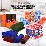 Set of 5 Assorted Panipat Kambal