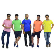 Set of 5 Collar T-shirts - Neon Collection