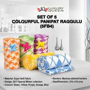 Set of 5 Colourful Panipat Raggulu (5FB4)