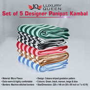 Set of 5 Designer Panipat Kambal