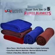 Set of 5 Fleece Blankets_Upsell