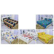 Set of 5 Floral Bedsheets + 10 Pillow Covers (5BS45)