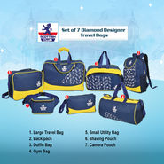 Set of 7 Diamond Designer Travel Bags