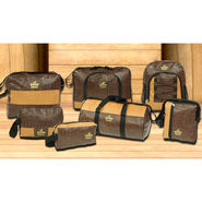 Set of 7 Leatherite Travel Bags