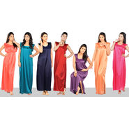 Set of 7 Poly Satin Nighties