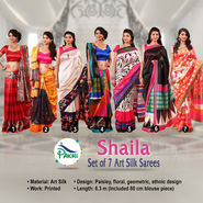 Shaila Set of 7 Art Silk Sarees (7A5)