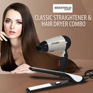 Sheffield Classic Straightener & Hair Dryer Combo