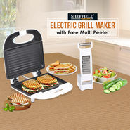 Sheffield Electric Grill Maker with Free Multi Peeler