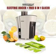 Sheffield Electric Juicer + Free 6 in 1 Slicer