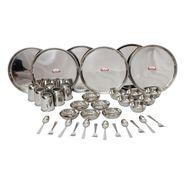 Shubham Stainless Steel Dinner Set, Set Of 36 Pcs