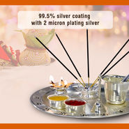 Silver Plated 8 Pcs Pooja Set
