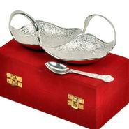 Silver Polish Brass Duck Shape Freshener Bowl 265