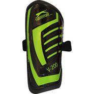 Slazenger Small Shin Pads V-200 - Black & Green