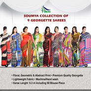 Soumya Collection of 9 Georgette Sarees by Pakhi (9G2)