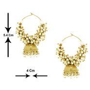 Spargz Antique Bali Pearl Earrings - White _AIER272