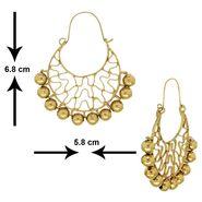 Spargz Golden Bali Cuff Earrings - Golden _AIER420