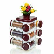 Cierie Multipurpose Revolving Spice Rack 12 Piece Condiment Set