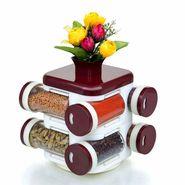 Cierie Multipurpose Revolving Spice Rack 8 Piece Condiment Set