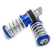 AutoStark Spring Coil Style Bike Foot Pegs Set Of 2 Blue Comfort Ride