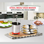 Steel Medu Vada Maker with Idli Rack