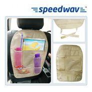 Speedwav Car Back Seats Multi-functional Pockets Storage Organiser Bag - Beige