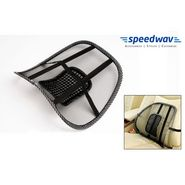 Speedwav Car Seat Back Rest Lumber Support Accupressure Beads-Black