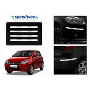 Speedwav Full Chrome Bumper Protectors - Maruti Celerio