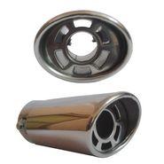 Speedwav Car Exhaust 2.5 inch Silencer Muffler Tip Pipe Universal - Tube In Tube