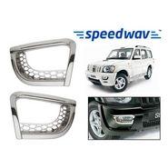 Speedwav Mahindra Scorpio (3rd Gen) Chrome Fog Lamp Rims