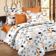Storyathome Printed Cotton Double Bed Sheet With 2 Pillow Covers-MT1204