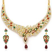 Sukkhi Sleek & Creative Gold Plated Necklace Set - Golden - 2134NADV2150