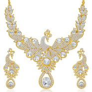 Sukkhi Exotic Peacock Gold Plated Necklace Set - Golden - 2146NADV2750