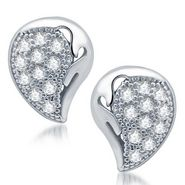 Sukkhi Glamorous Rhodium Plated Earrings - White - 203EARSDPVTS350