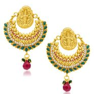 Sukkhi Angelic Gold Plated Earrings - Golden - 6057EGLDPL1250