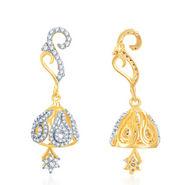 Sukkhi Gold Finished Earrings - White & Golden - 123E2550