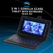 Swipe 3 in 1 Gorilla Glass Tablet with Keyboard (Slice 3G)