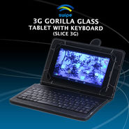 Swipe 3G Gorilla Glass Tablet with Keyboard (Slice 3G)