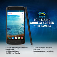 Swipe 4G + 5.5 HD Gorilla Screen + HD Camera