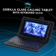 Swipe Gorilla Glass Calling Tablet with Keyboard (Slice)