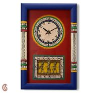Tribal Art Hand Painted Wall Clock -TC1323