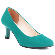 Ten Suede Green Pumps -ts72